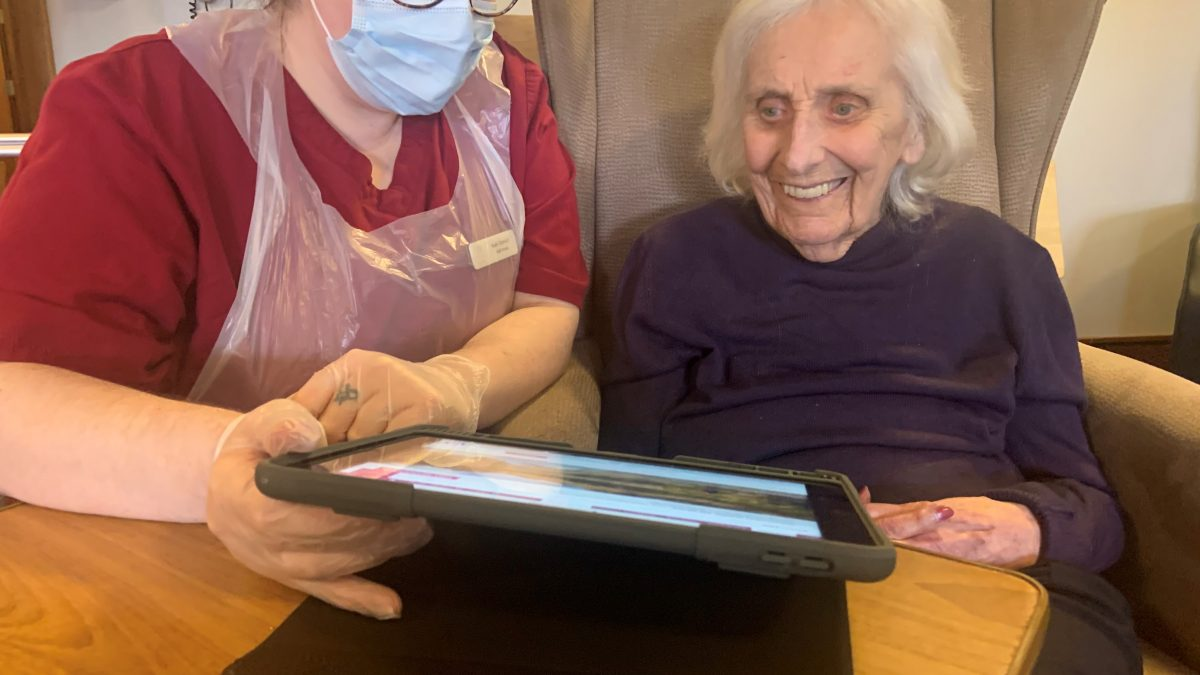 Care home residents avoid screen freeze after broadband speed injection