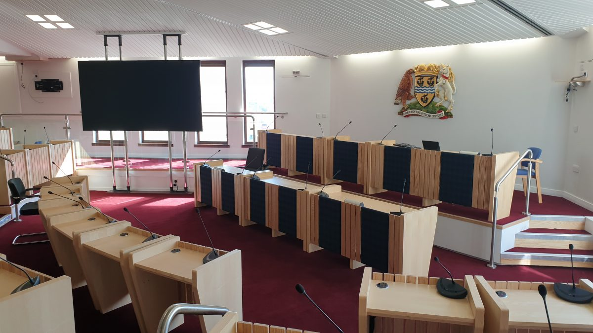 New £90,000 'state-of-the-art' IT systems installed in Stornoway council chamber