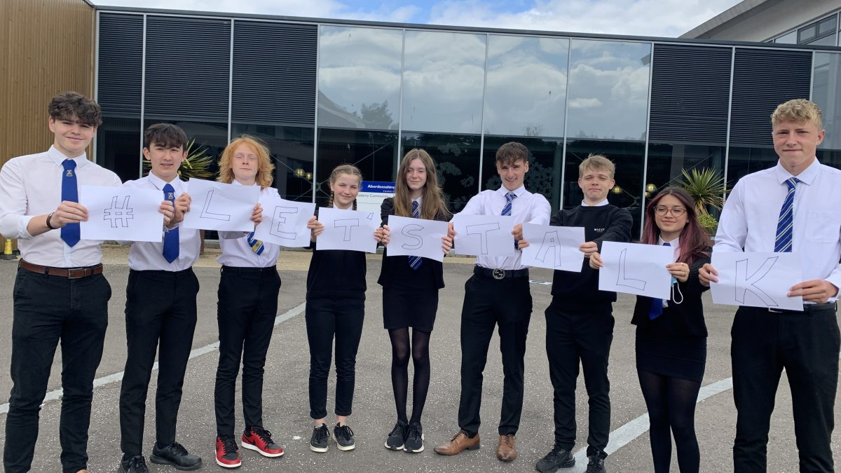 Pupils help launch online mental health services for all across Aberdeenshire